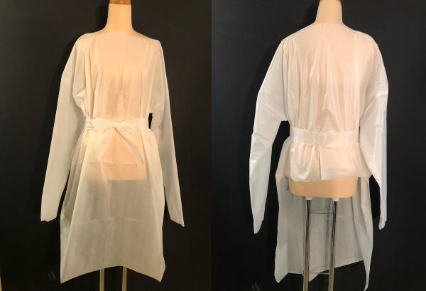 コロナ対策 防水ベッドシーツを利用した医療用簡易防護服